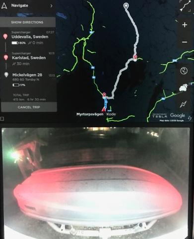 Bakbox i backkamera och navigator till Branäs